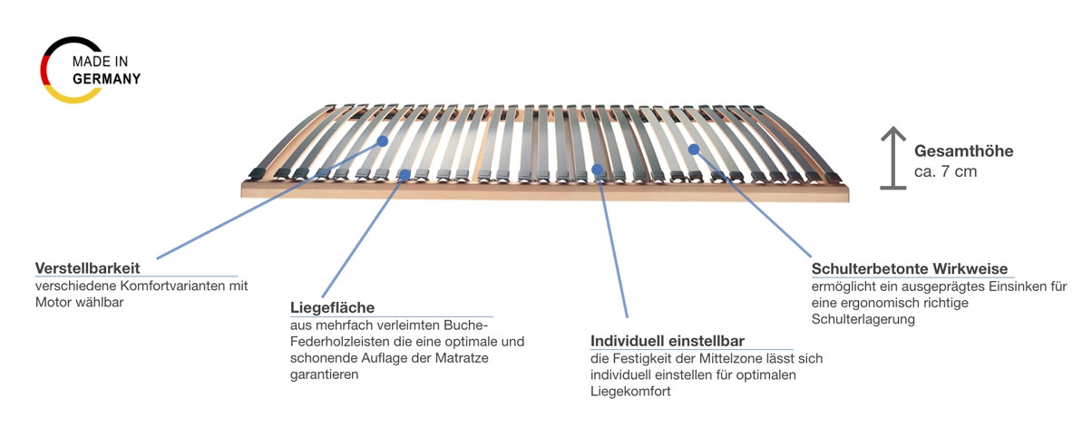 selecta FR7 Lattenrost elektrisch Besonderheiten