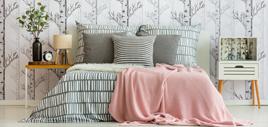 Schlafzimmer mit Bettwaren
