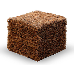 Material latexierter Kokos