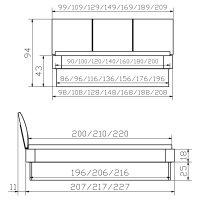 Hasena Oak-Bianco Massivholzbett Modul 18 Practico Ripo