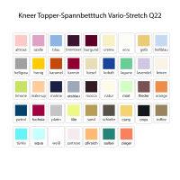 Kneer Topper-Spannbetttuch Vario-Stretch Q22