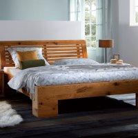 Hasena Oak-Wild Massivholzbett Cadro 18 Cova Barro