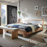 Hasena Oak-Vintage Massivholzbett Cadro 18 Onito Alpa