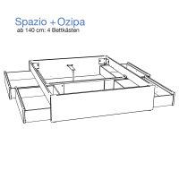 Hasena Function and Comfort Massivholzbett Spazio Duetto